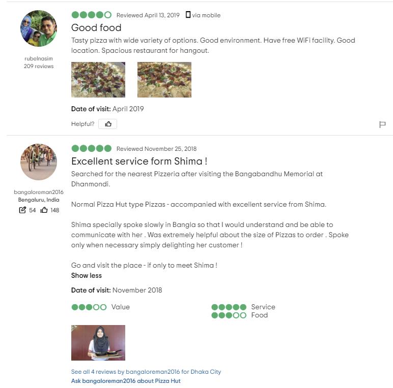 Pizza Hut Dhanmondi Menu Price & Contact Number 2