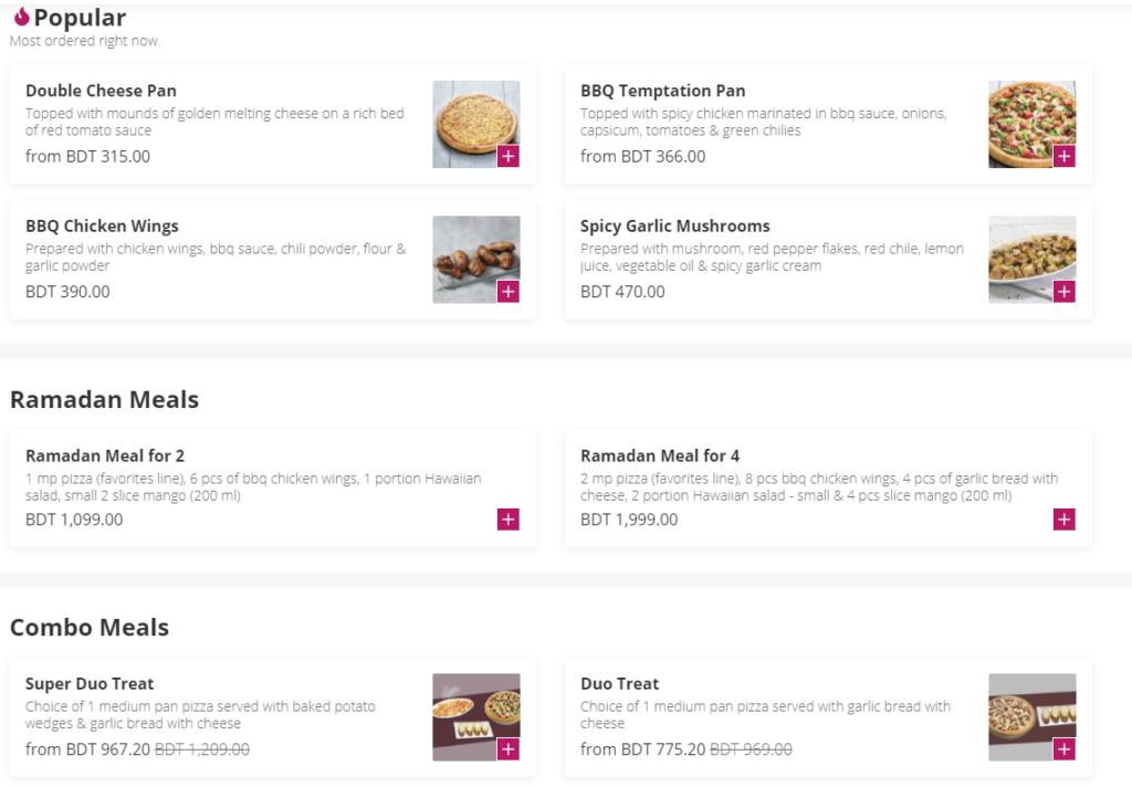 Pizza Hut Dhanmondi Menu Price & Contact Number 1